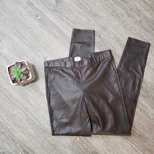 Wilfred * Brown Faux Leather Daria Ankle Pants S